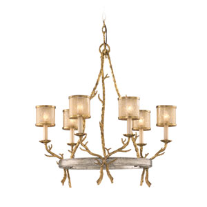 Parc Royal Gold and Silver Six-Light Chandelier