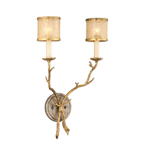 Parc Royal Gold and Silver Two-Light Sconce