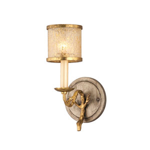 Parc Royal Gold and Silver Leaf One-Light Bath Fixture