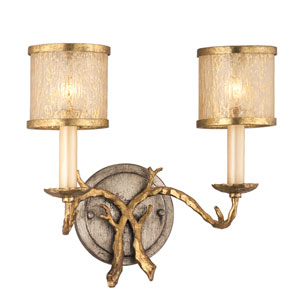 Parc Royal Gold and Silver Two-Light Bath Fixture