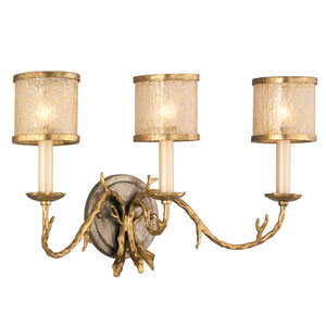Parc Royal Gold and Silver Three-Light Bath Fixture