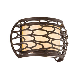Cesto Napoli Bronze One-Light Wall Sconce