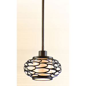Cesto Napoli Bronze One-Light Mini Pendant