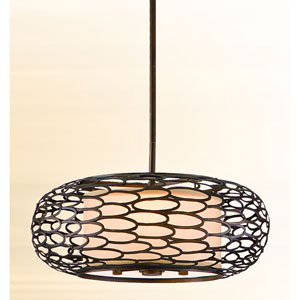Cesto Napoli Bronze Three-Light Convertible Pendant