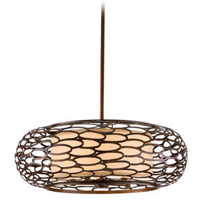 Cesto Napoli Bronze Five-Light Pendant