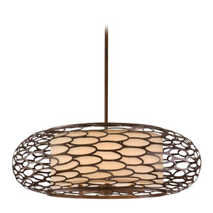 Cesto Napoli Bronze Eight-Light Pendant
