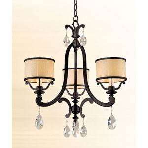 Roma Classic Bronze Three-Light Chandelier