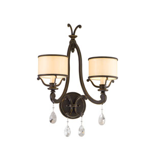 Roma Classic Bronze Two-Light Wall Sconce