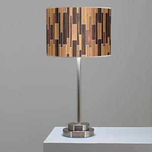 Tile 2 Zebrawood and Ebony One-Light Table Lamp