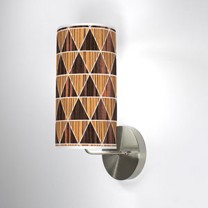 Triangle 2 Zebrawood and Ebony One-Light Wall Sconce