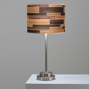 Tile 4 Zebrawood and Ebony One-Light Table Lamp