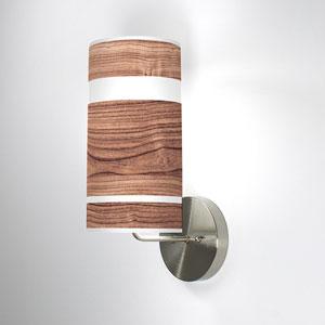 Band Walnut One-Light Wall Sconce