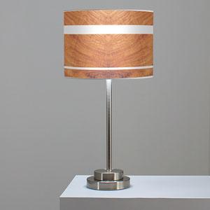 Band Mahogany One-Light Table Lamp