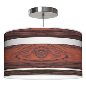 Band Rosewood 24-Inch Two-Light Drum Pendant