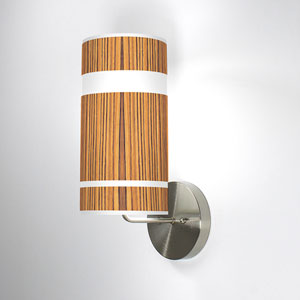 Band Zebrawood One-Light Wall Sconce