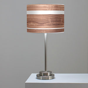 Band Walnut One-Light Table Lamp