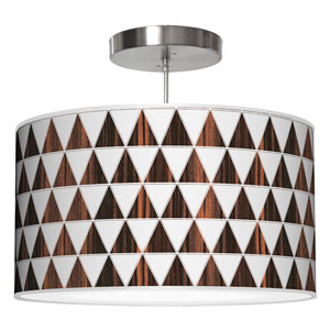Triangle 1 Ebony 24-Inch Two-Light Drum Pendant