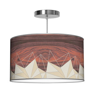 Facet Cream 30-Inch Two-Light Pendant