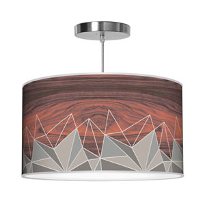 Hex Grey 30-Inch Two-Light Pendant