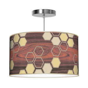 Hex Cream 24-Inch Two-Light Pendant