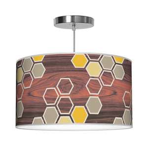 Hex Yellow 30-Inch Two-Light Pendant