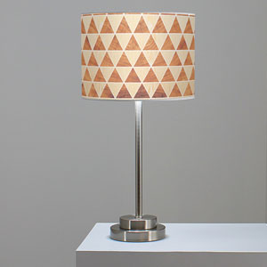 Triangle 2 Oak and Mahogany One-Light Table Lamp