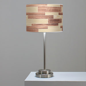 Tile 4 Oak and Walnut One-Light Table Lamp