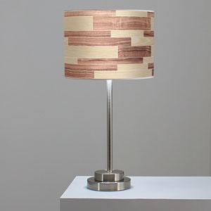 Tile 4 Oak and Walnut One-Light Table Lamp