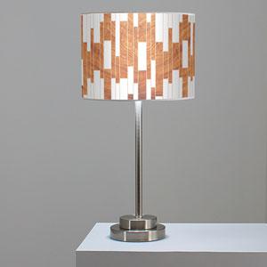 Tile 1 Mahogany One-Light Table Lamp