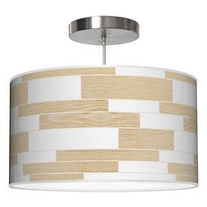 Tile 3 Walnut 20-Inch Two-Light Drum Pendant