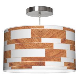 Tile 3 Mahogany 16-Inch One-Light Drum Pendant