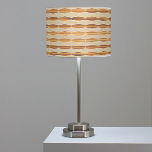 Weave 4 Oak and Zebrawood One-Light Table Lamp