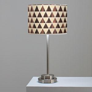 Triangle 2 Oak and Ebony One-Light Table Lamp