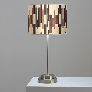 Tile 2 Oak and Ebony One-Light Table Lamp