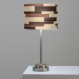 Tile 4 Oak and Ebony One-Light Table Lamp