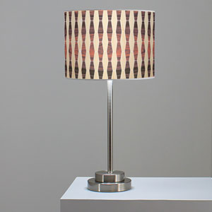Weave 2 Oak and Rosewood One-Light Table Lamp