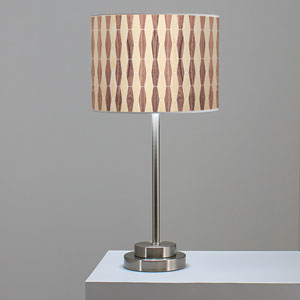 Weave 2 Oak and Walnut One-Light Table Lamp