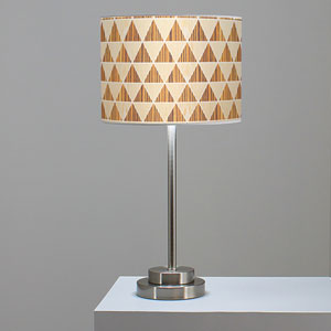 Triangle 2 Oak and Zebrawood One-Light Table Lamp