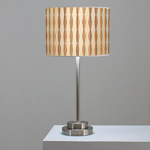 Weave 2 Oak and Zebrawood One-Light Table Lamp