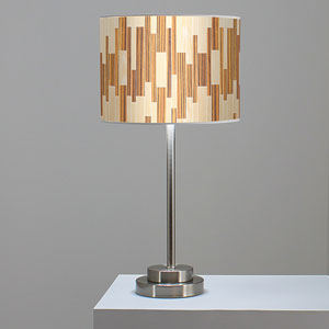 Tile 2 Oak and Zebrawood One-Light Table Lamp