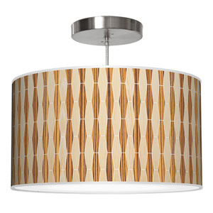 Weave 2 Oak and Zebrawood 16-Inch One-Light Drum Pendant