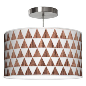 Triangle 1 Rosewood 16-Inch One-Light Drum Pendant