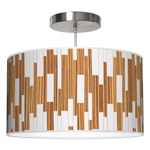 Tile 1 Zebrawood 24-Inch Two-Light Drum Pendant