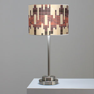Tile 2 Oak and Rosewood One-Light Table Lamp