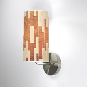Tile 2 Oak and Mahogany One-Light Wall Sconce