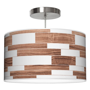 Tile 3 Rosewood 30-Inch Two-Light Drum Pendant