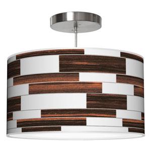 Tile 3 Ebony 20-Inch Two-Light Drum Pendant