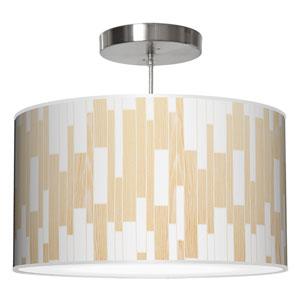 Tile 1 White Oak 30-Inch Two-Light Drum Pendant