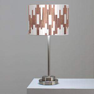 Tile 1 Walnut One-Light Table Lamp