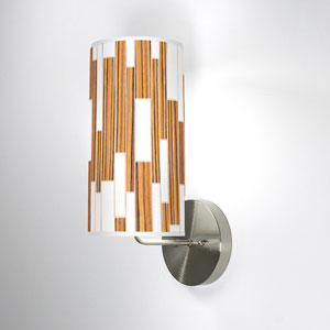 Tile 1 Zebrawood One-Light Wall Sconce